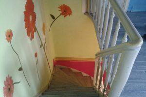 Haus in Vettweiß, Treppe - vorher